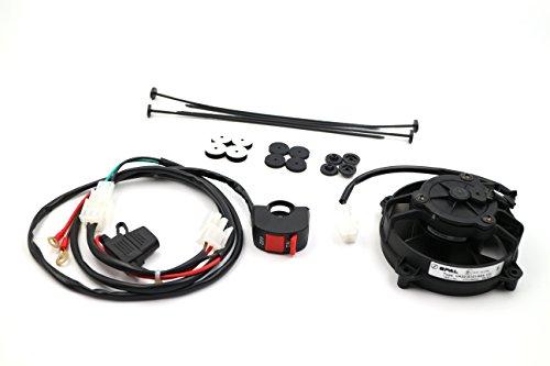 Spal Lüfter (ProRace Axiallüfter, Original SPAL Ventilator mit Schalter für ALLE ENDUROS 2&4 Takter)