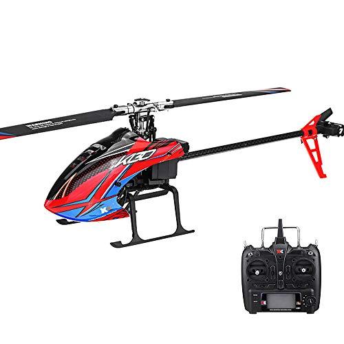 Zantec RC Hubschrauber RTF Kompatibel mit FUTABA S-FHSS, XK K130 2.4G 6CH Brushless 3D6G System Flybarless