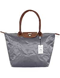 Roberto Ballmore Womens Leatherette Hand Bag Grey
