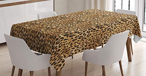 hdecke, Afrikanischer Leopard Druck, Für den Inn und Outdoor Bereich geeignet Waschbar Druck Klar Kein Verblassen, 140 x 240 cm, Braun ()