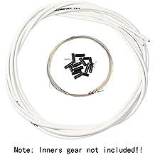 Aulola® anteriore e posteriore interno esterno filo freno Gear cable set, White