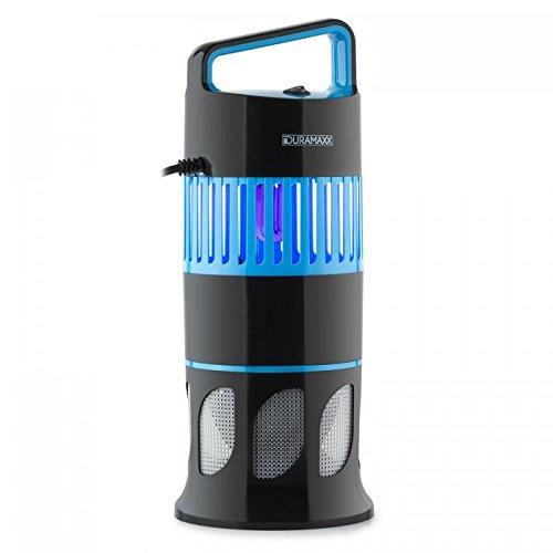 Duramaxx Mosquito Ex Deco, UV-Insektenfalle, Insekten-Licht, ohne Chemie, Mückenschutz, Insektenschutz, integrierter Lichtsensor, 13 Watt, elektrisch, geruchsneutral, UV Lampe, schwarz