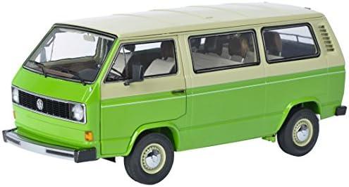 Schuco - 450038000 - Véhicule Véhicule Véhicule Modèle - VW T3 Bus - Echelle 1/18 - Beige/Vert | à L'aise  5dfa8c