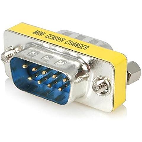 StarTech.com Slimline Gender Changer DB9M to DB9M - Adaptador para cable (DB9 Male, DB9 Male, Macho/Macho)