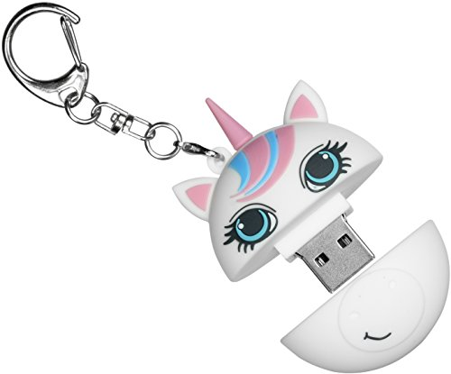 My Doodles Cancer Research UK 8 GB USB Flash Drive Memory Stick with Fun Novelty Childrens Character Design with Lid and Keyring Attachment Suitable for All Ages - Unicorn
