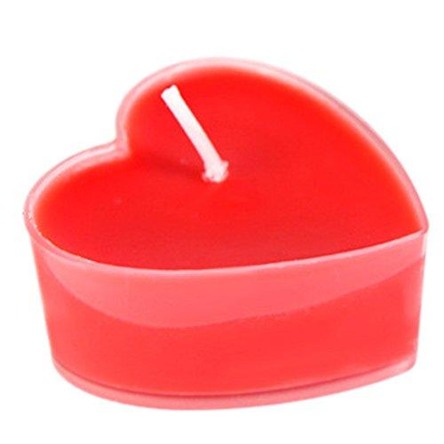 Leisial 9 Stück Herz Teelicht Set Kreative Kerze Romantisches Kerze Rauchfrei Teelicht für Geburtstag,Vorschlag,Hochzeit,Party,Rot