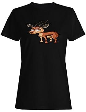 Nuevo Gazelle Cute Face camiseta de las mujeres l906f
