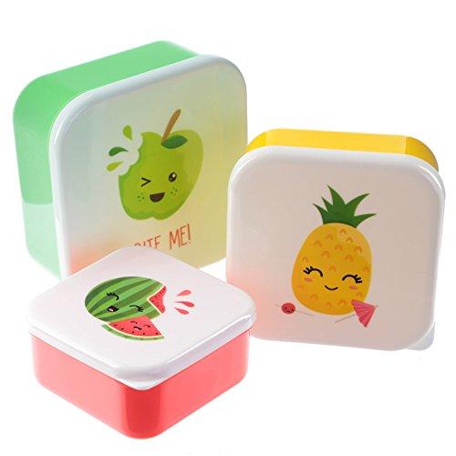 Set 3 fiambreras plástico 'Fruits'