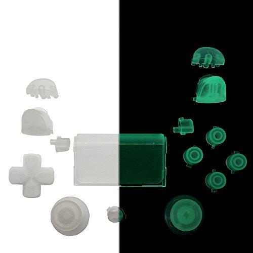 Quartet Trade Gamepad Reparatur Tasten für PS4Generation 1Controller Nur. PS4Controller DualShock 4(Glow in The Dark) (Ps4-controller-touchpad-aufkleber)