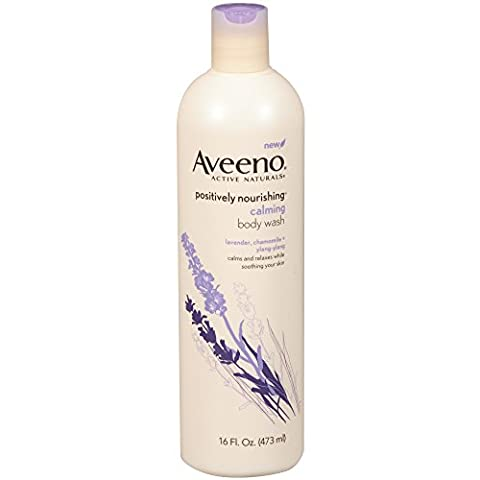 Aveeno Active Naturals Body Wash Calming Lavender Chamomile + Ylang Ylang 475 ml