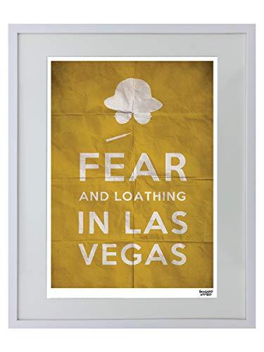 Fear And Loathing In Las Vegas Text Limitierter Gerahmter Kunstdruck 40 x 50 cm