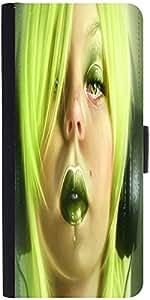 Snoogg Pierced Girl Listening 2680 Designer Protective Flip Case Cover For Sa...