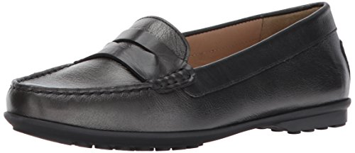 Geox D Elidia A, Mocassins (Loafers) Femme Gris (Gun/anthracite)