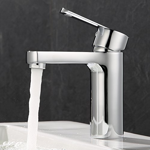 ubeegol Chrom Wasserhahn Bad Waschtischarmatur Einhebel Mischbatterie Badarmatur Einhandmischer Waschbecken Armatur für Badzimmer