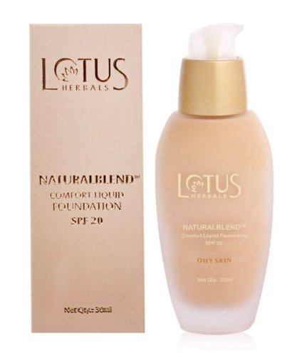 Lotus Herbals Naturalblend Liquid Foundation SPF-20, Soft Cameo Oily, 30ml