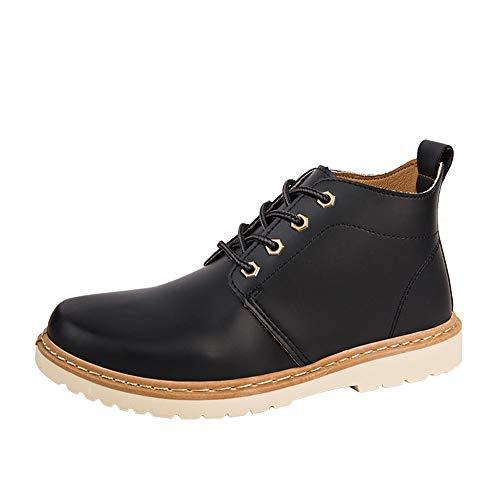 Manadlian Bottes de Hommes Boots Travail Cuir Botte de Protection Semelle en Caoutchouc Industrielle Hiver Chaussures