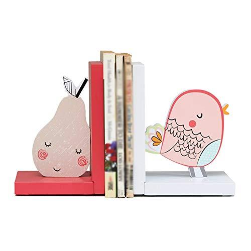 ZHI PENG Kinder-Buchstützen, schwere rutschfeste hölzerne Buchstützen für das Bibliotheksschulbüro oder das dekorative Hausstudie Tischplattendekoration