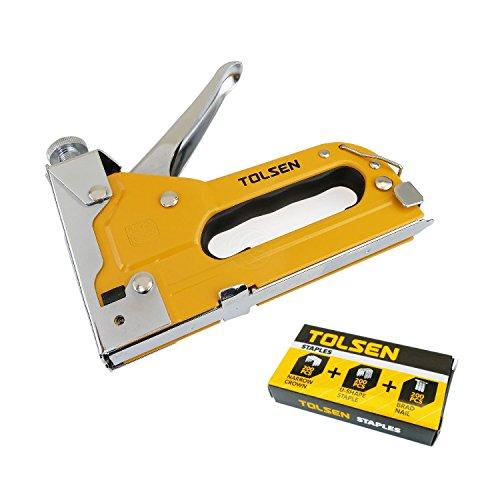 Pistola cucitrice punti metallici strumento di scatole di cartone di regolabile Tolsen