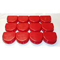 Preisvergleich für Dental Orthodontic 12 Retainer Denture Mouth Guard Case Bleach Tray Box ASSORTED (Red) by ValueDent