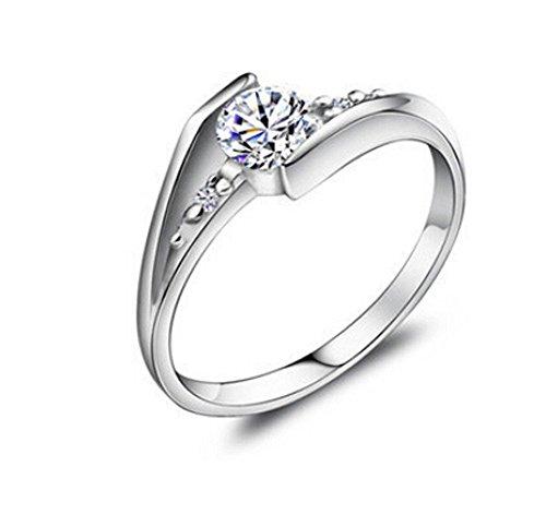 925 Sterling Silber Zirkonia Damen-Ring Verlobungsring design schmuck größe 52 (16.6)
