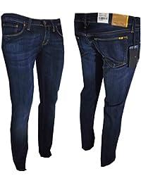 Meltin  Pot mendel Jeans Donna Elasticizzati Vita bassa Pantaloni denim  stretch affusolati W31L32 9633f8fb213