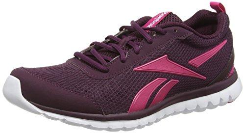 Reebok Sublite Sport, Chaussures de Running Entrainement Femme Multicolore (Maroon/white)