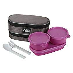 Jaypee plus 3 course lunch box set, 3 pieces, Pink