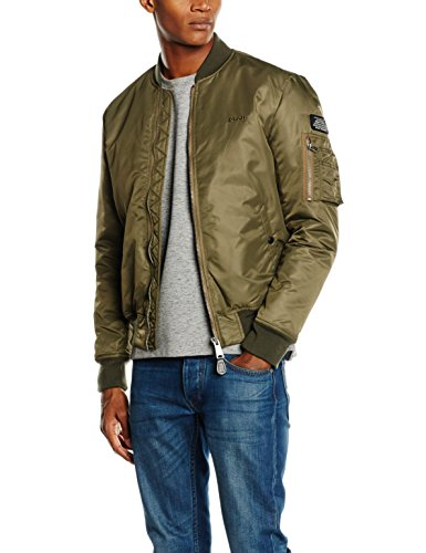 Schott NYC Airforce1 Bomber Jacket, Giacca Uomo Green (Army Khaki)