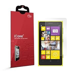 iCarez Oleophobic anti-fingerprint screen protector for Nokia Lumia 1020 high quality screen protector for Windows Phone 8 smartphone (2 Pack)
