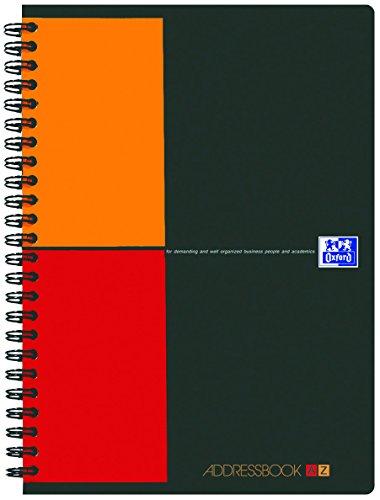 OXFORD 100104329 Activebook International A4+ kariert mit versetzbarem Register und Dokumententasche grau Spiralblock Collegeblock - clevere Organisation für Manager und Führungskräfte