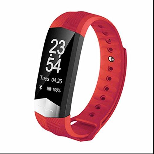 Fitness Tracker Herzfrequenzmessung smart bracelet Push Benachrichtigung Smart Gesundheit Armbanduhr Kalorienzähler Bequem und praktisch mit Distanz Datum und Uhrzeit Aktivitätstracker für Android und IOS