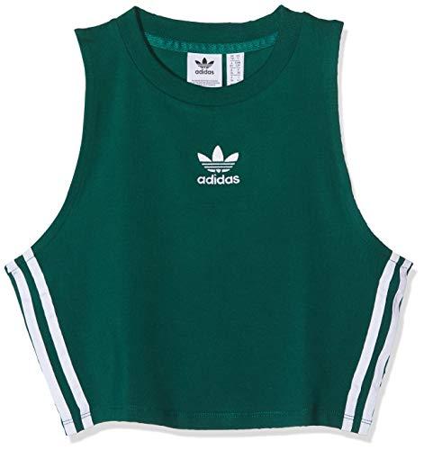 adidas Crop Camiseta de Tirantes, Mujer, Verde (veruni), 36