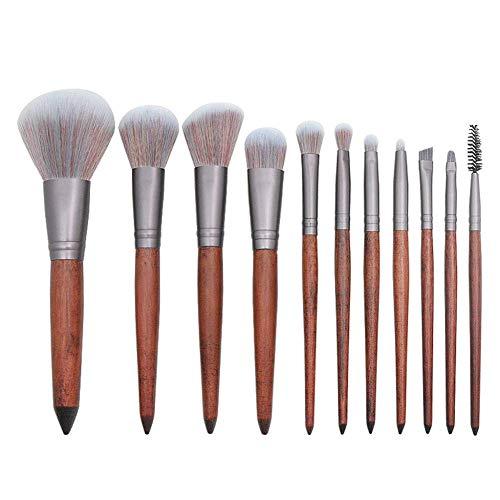 11 Stücke Make-Up Pinsel Set Kosmetische Werkzeug Weiche Synthetische Haar Puder Wange Lidschatten Eyeliner Stirn