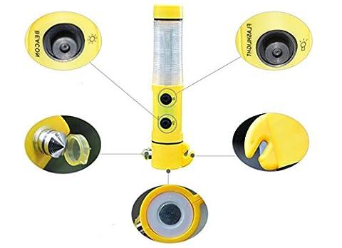 Happyit 4 in 1 Auto Sicherheit Hammer lebensrettende Taschenlampe Sitzgürtel Cutter Glasbrecher Leben Retten Flucht Notfall Rettungs-Tool