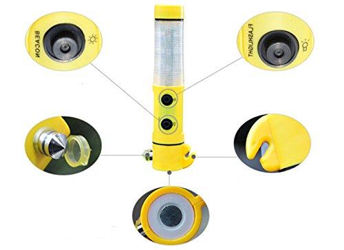Preisvergleich Produktbild Happyit 4 in 1 Auto Sicherheit Hammer lebensrettende Taschenlampe Sitzgürtel Cutter Glasbrecher Leben Retten Flucht Notfall Rettungs-Tool