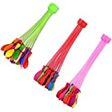 SYGA Fast Fill Magic Self Tying Bunch Tie Multi Colored Magic Water Balloons