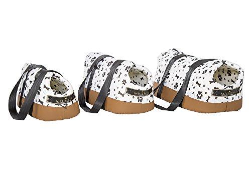 MICHUR Trend, Hundetransportbox, Katzentransportbox, Hundetragetasche, Handtasche, Hunde Tragetasche, WEIß, in verschiedenen Größen lieferbar!