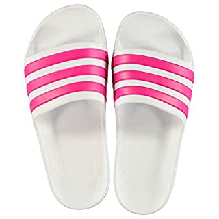 adidas Girls Duramo Sliders White/Pink UK 5 (38)