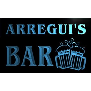 w125658-b ARREGUI Name Home Bar Pub Beer Mugs Cheers Neon Light Sign