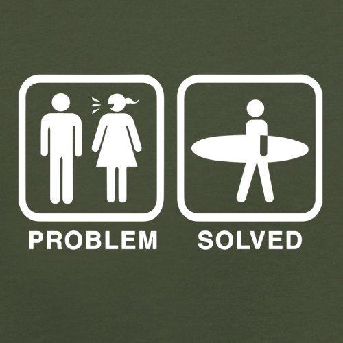Problem gelöst - Surfen - Herren T-Shirt - 13 Farben Olivgrün