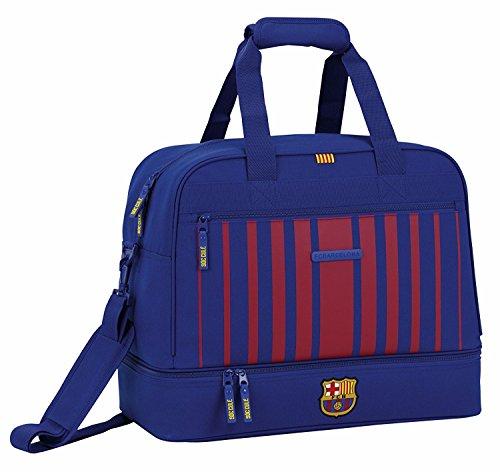 Tasche Fußball-messi (FC Barcelona, Sporttasche Trainingstasche mit Bodenfach, Saison 2017/2018, blau/rot, 48 x 27 x 38 cm)
