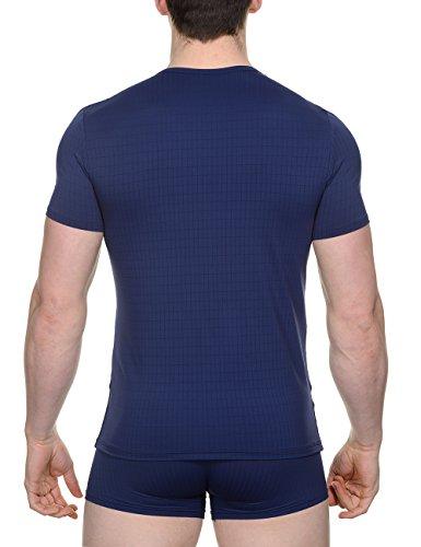 bruno banani Herren T-Shirt Shirt Check Line Blau (marine karo 542)
