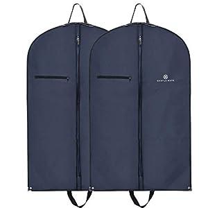 Gentle Mate® 2er Set Premium Kleidersäcke mit Schultergurt inklusive Duftbeutel – hochwertige Anzugtasche Kleidertasche…