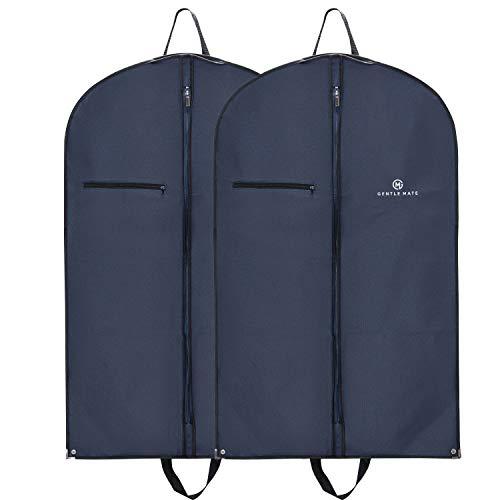 Gentle Mate® 2er Set Premium Kleidersäcke mit Schultergurt inklusive Duftbeutel - hochwertige Anzugtasche Kleidertasche Business für Reisen und Aufbewahrung von Anzügen, Hemden Anzugsack Herren