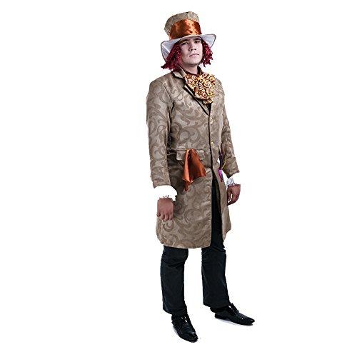 Charm Rainbow Vintage Kostüme Mann Dickensian 4-Teilige Kostüm Gothic GRAF Set inkl. Jacke und Hemd Herren Cosplay Faschingskostüm Zubehör Party, Fasching, Halloween 3 Größe (M - XL)