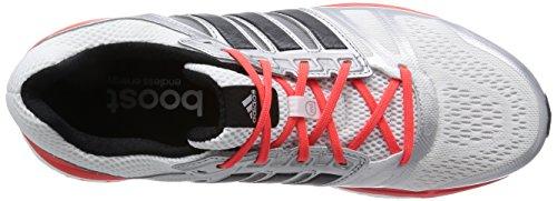 adidas Performance Supernova Sequence 7 Herren Laufschuhe Silber (Ftwr White/Core Black/Solar Red)