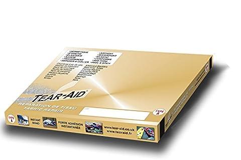 Tear Aid Typ A–Band, 7,5cm x 150cm, zur Sofort-Reparatur von Löchern und Rissen in Gewebe (außer Vinyl und PVC), inkl. Packung mit 8Reinigungstüchern