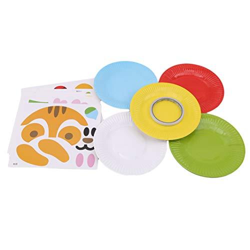SHIJIANDE Kleinkind Pappteller Carfts Art Kit DIY Craft Kit für Kinder Geburtstagsfeiern Quadratische Platte Little Cute Crafts Ideal für Kleinkinder Mädchen Jungen