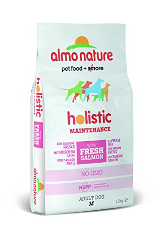 Almo Nature holistic dog adult medium mangime secco gusto salmone e riso kg.12