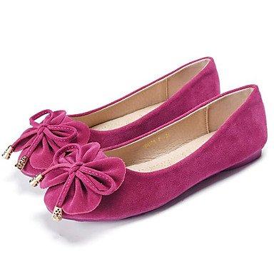 Wuyulunbi@ Scarpe Donna Primavera Autunno Comfort Appartamenti Null / Round Toe Null / di abbigliamento casual kaki rosa fucsia blu viola Noi6.5-7 / EU37 / UK4,5-5 / CN37